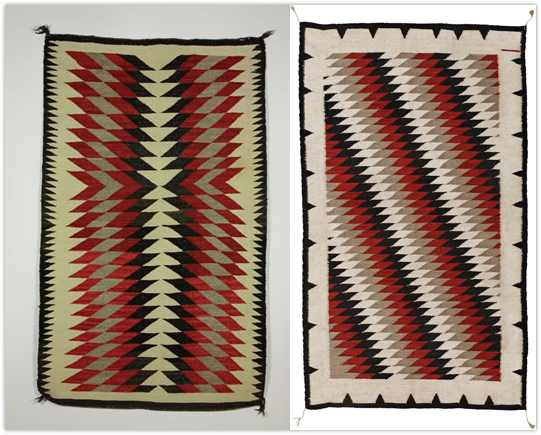 Antique Navajo Dazzler Blanket