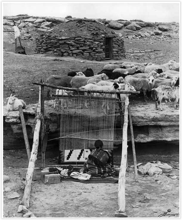 Navajo Loom and Weaver