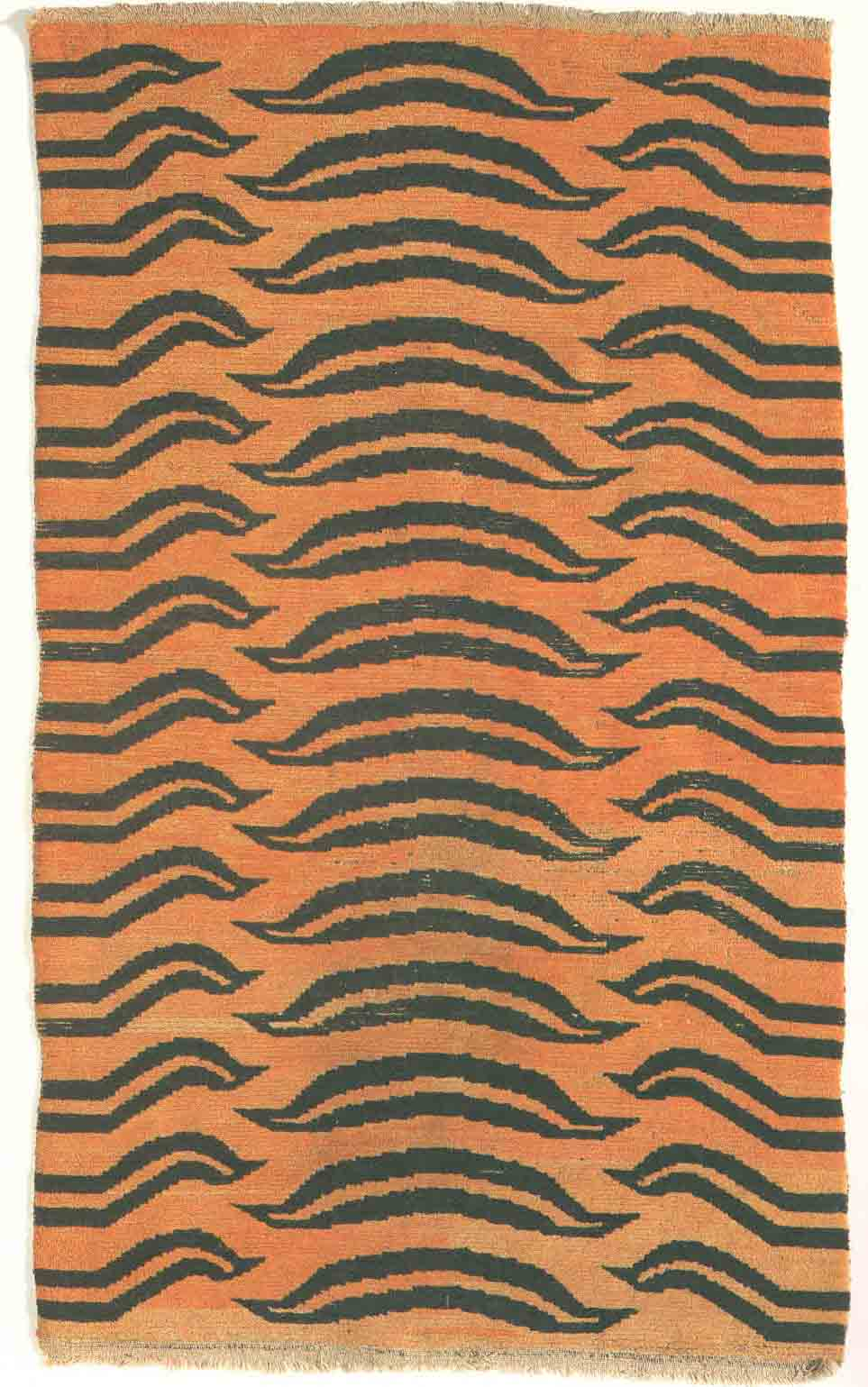 Abstracted tiger rug