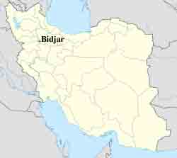Bidjar map