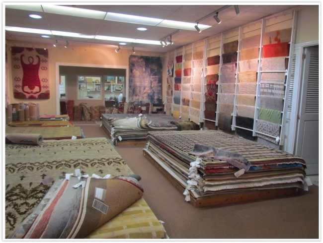 The Contemporary Rug Room at the Persian Carpet