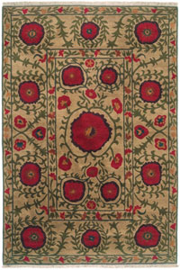 Tibet Rug Company Poppies Beige (TI-Poppies-1)